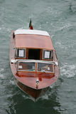 Boat in venice italy. On the grand canal Stock Photos