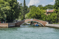 By boat from Venice to Murano Stock Image