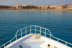 Boat view of Makadi bay Stock Image
