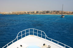Boat view of Makadi bay Stock Photography