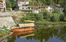 Boat at Virpazar Royalty Free Stock Image