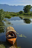 Boat at Virpazar Stock Photography