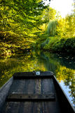 Boat while visit Colmar, France or Little Venice. Stock Photo