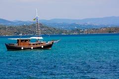 Boat in Vourvouru Stock Photography