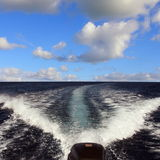 Boat wake Stock Images