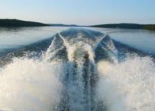 Boat wake stock photography