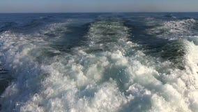 Boat Wake on the Atlantic Ocean stock video