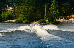 Boat wake Royalty Free Stock Images