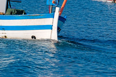 Boat wake Stock Photo