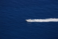 Boat Wake on Mediterranean Sea Stock Image