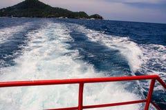 Boat wake wave background Stock Images