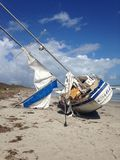 Ship Wrecked Sailboat Stock Images
