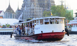 Boat in wat arun Bangkok city Royalty Free Stock Image