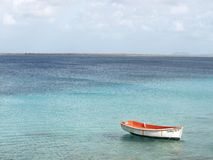 Boat on water. Bonaire Stock Photo