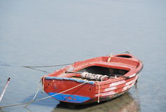 Boat on the water close to the Kos island Royalty Free Stock Photo