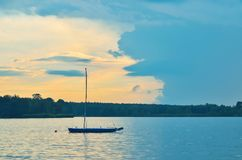 Boat on the water. Royalty Free Stock Images