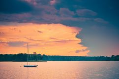 Boat on the water. Royalty Free Stock Photography