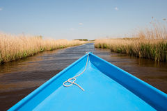 Boat in water landscape Stock Photography
