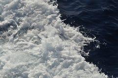 Boat waves Stock Photos