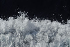 Boat waves Stock Images