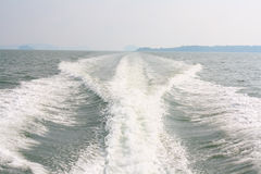 Boat waves Stock Image