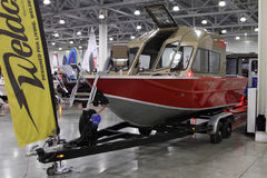 Boat Weldcraft Predator 660 EX Out in the exhibition Crocus Expo Stock Images