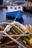 Boat at wharf Royalty Free Stock Images