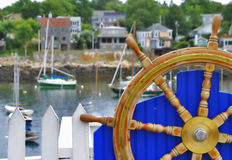 Boat Wheel Stock Photo