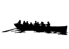 Boat whit people two Royalty Free Stock Photo