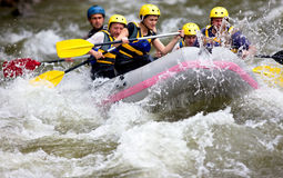 Boat Whitewater Rafting Royalty Free Stock Photography