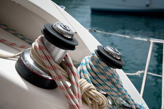 Boat winch Stock Image