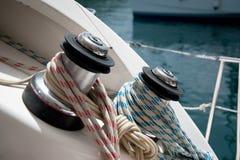 Boat winch stock image