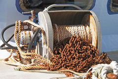 Boat Winch Stock Photo