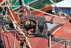 Boat winch Royalty Free Stock Images