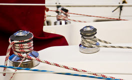 Boat Winches Royalty Free Stock Photo