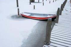 Boat in winter Stock Photo