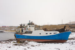 The boat in winter Royalty Free Stock Photography