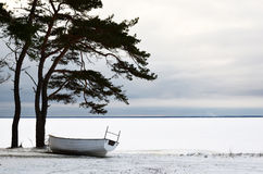 Boat at winter rest Stock Image