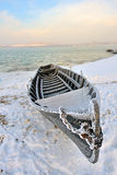Boat in winter time Stock Image