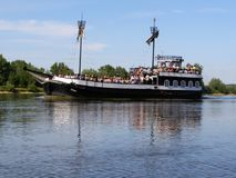 Boat on the Wisla River Stock Photos