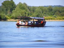 Boat on the Wisla River Stock Photography