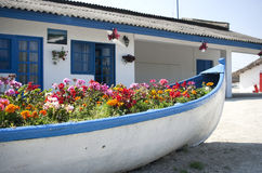 Free Boat With Flowers Stock Photography - 73005262