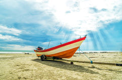 Free Boat With Ray Of Sun Light Stock Images - 27509184
