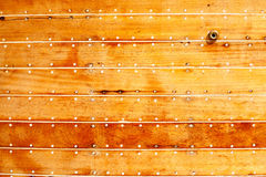 Boat wooden hull texture detail Royalty Free Stock Images