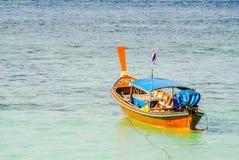 Boat. Wooden passenger boat at Li-Pae Island beach Thailand Royalty Free Stock Image