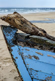 Boat wreck on a beach Royalty Free Stock Photo