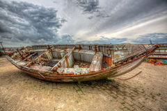 Boat wreck. High dynamic range picture of a boat wreck Stock Photos