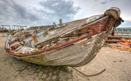 Boat wreck. High dynamic range picture of a boat wreck Stock Photo