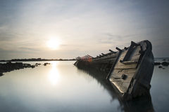 Boat wreck Royalty Free Stock Photography