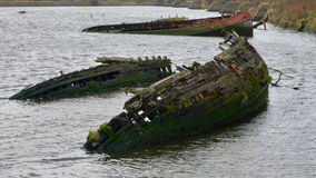 Boat wrecks Stock Photography